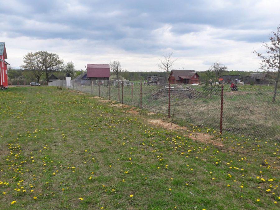 Забор из сетки рабицы 280м с воротами и калиткой фото4