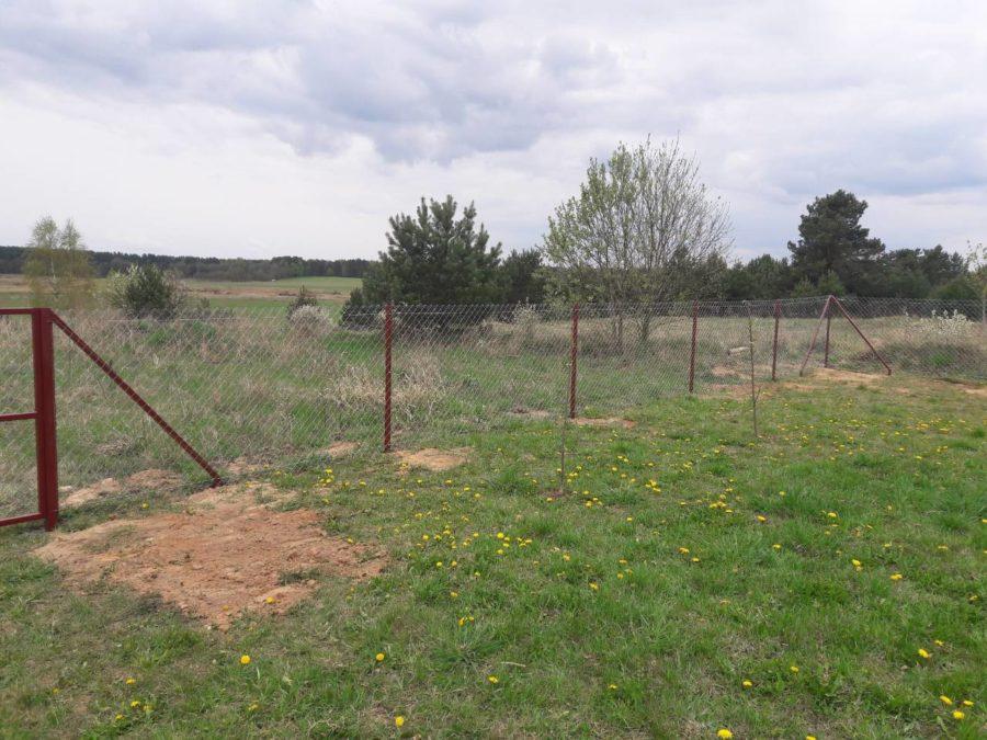 Забор из сетки рабицы 280м с воротами и калиткой фото5