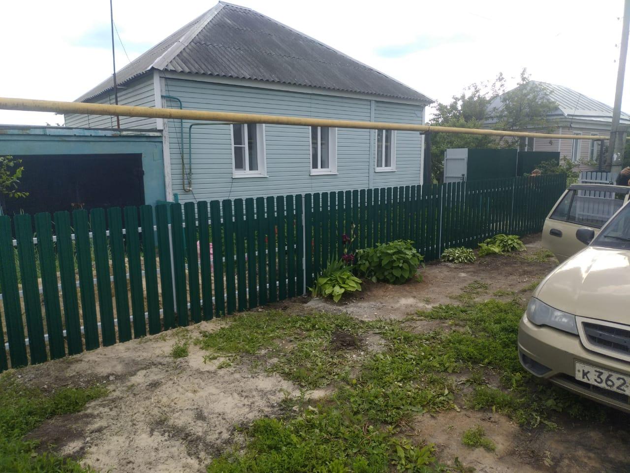 Комбинированный забор 25м штакетник и профлист, ворота, калитка фото7