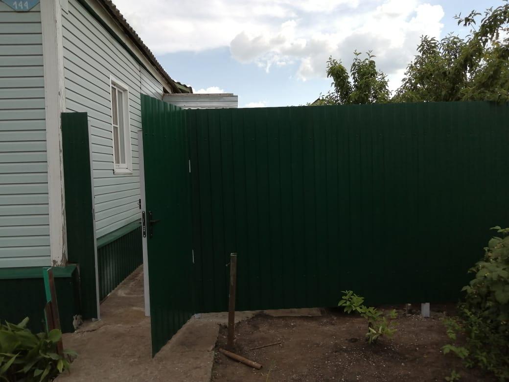 Комбинированный забор 25м штакетник и профлист, ворота, калитка фото9