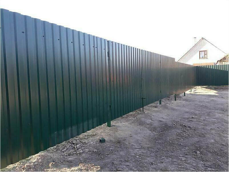 Забор, ворота, калитка из зеленого профлиста 150м фото 5