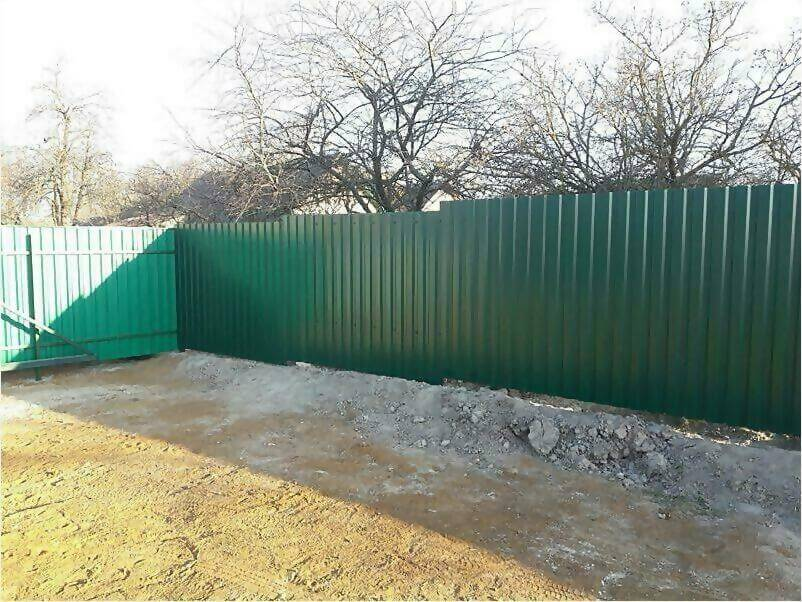 Забор, ворота, калитка из зеленого профлиста 150м фото 3