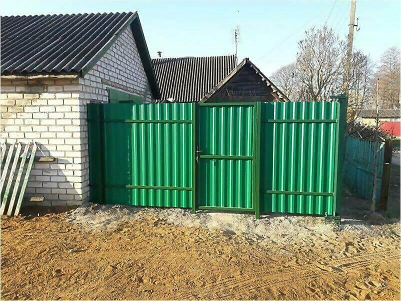 Забор, ворота, калитка из зеленого профлиста 150м фото 1