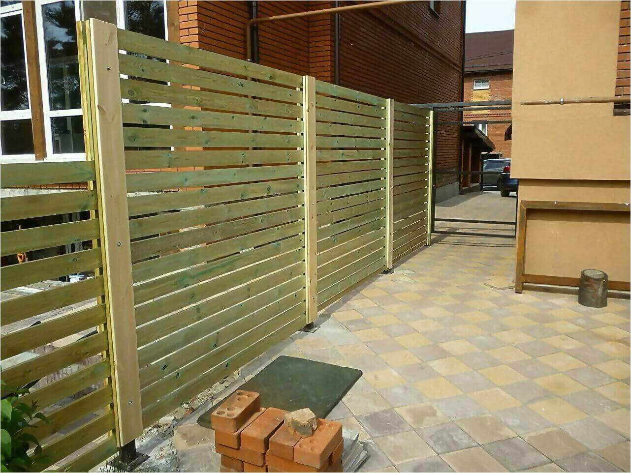 Забор деревянный 125м фото1