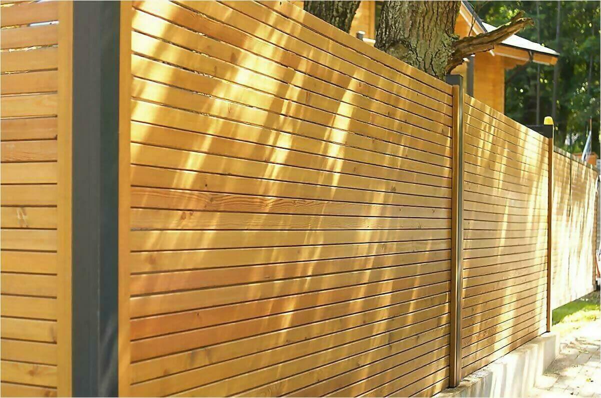 деревянный забор фото4