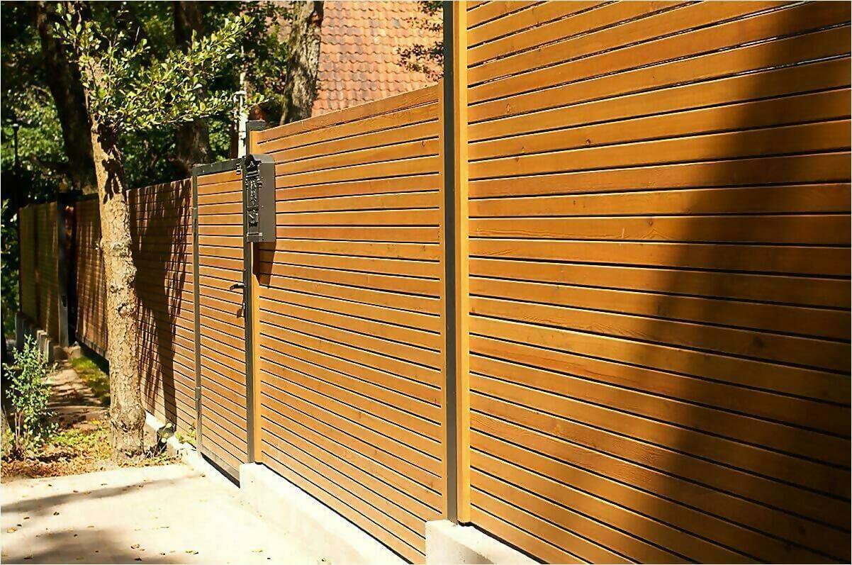 деревянный забор фото1
