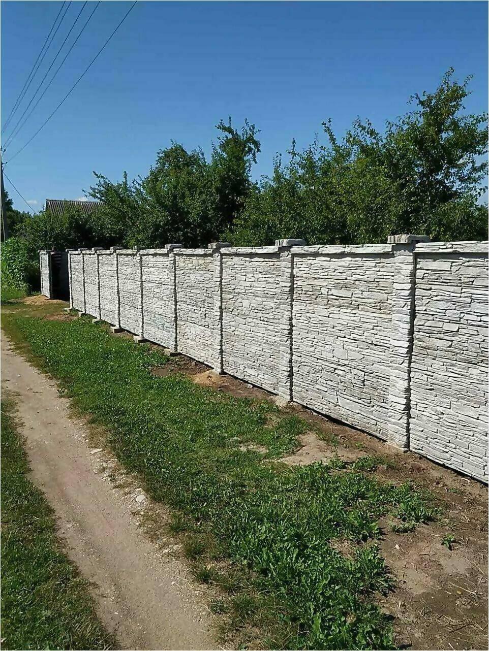 Забор из декоративного камня фото2