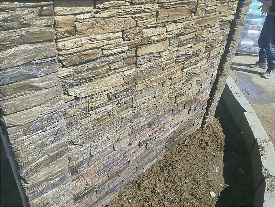 Забор из декоративного камня фото3