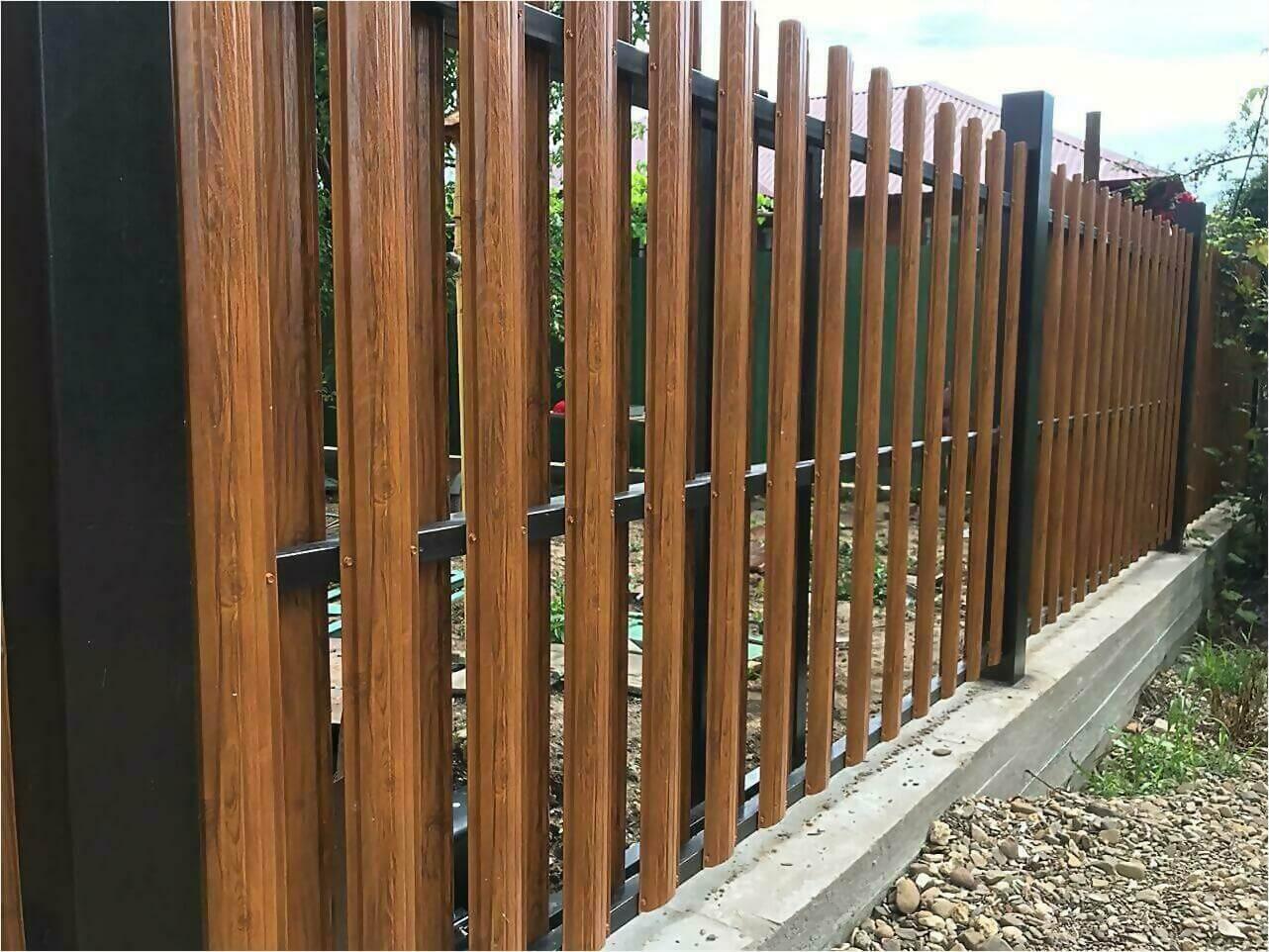 Забор из штакетника 110м фото1