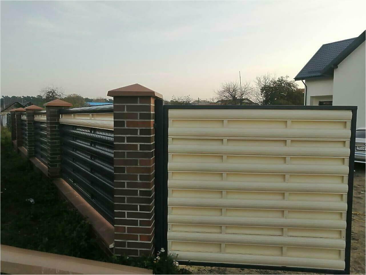 Забор из штакетника 110м фото5