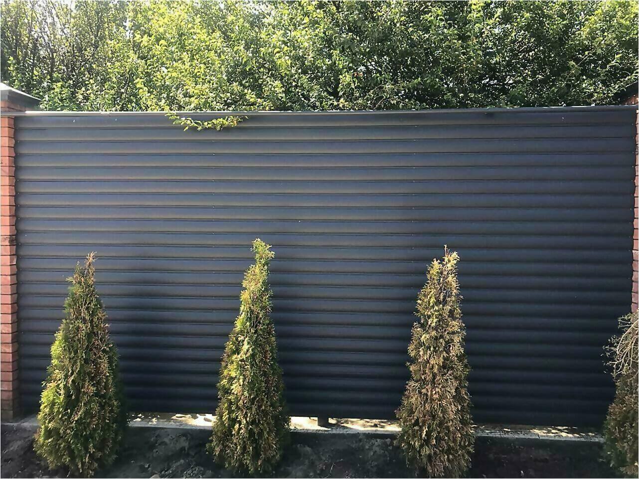 Забор из штакетника 115м фото7