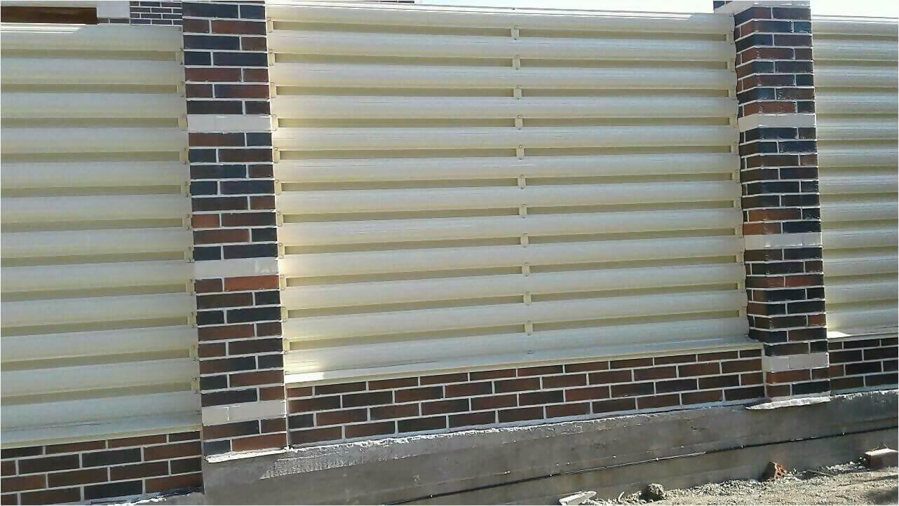 Забор из штакетника 115м фото5