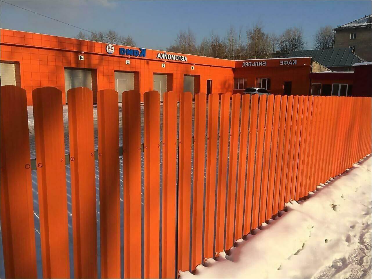 забор из штакетника 60м фото3