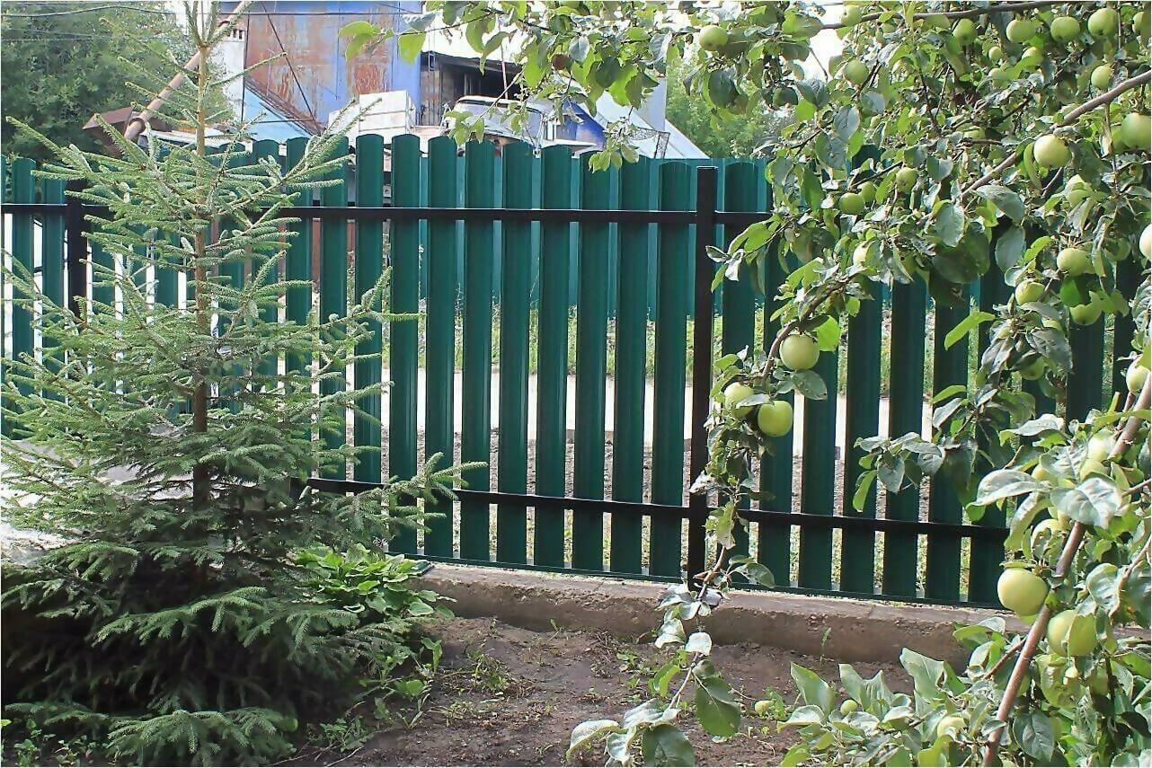Забор из штакетника 60м фото4