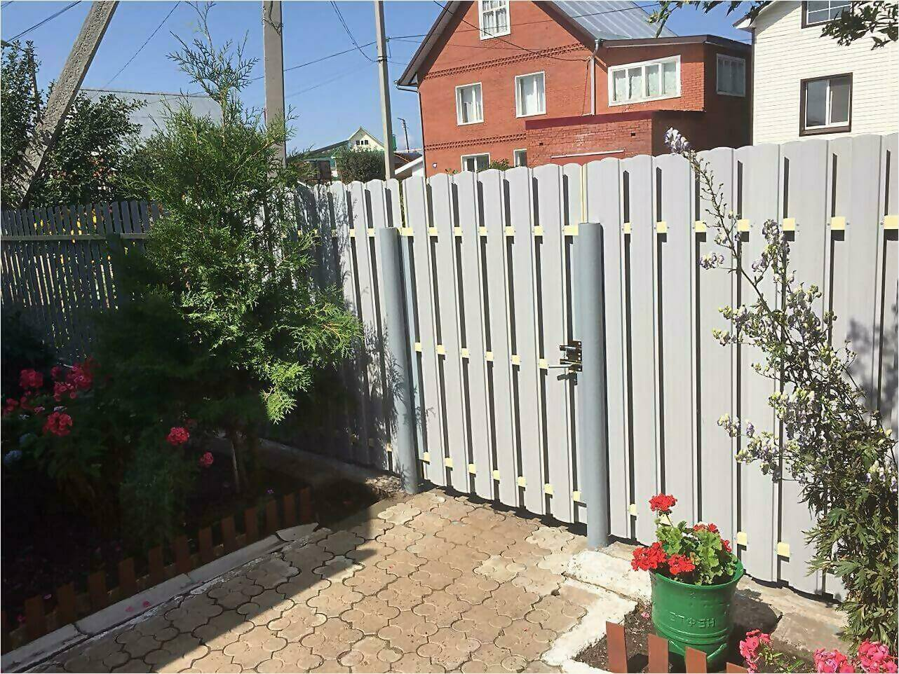 Забор из штакетника 65м фото4