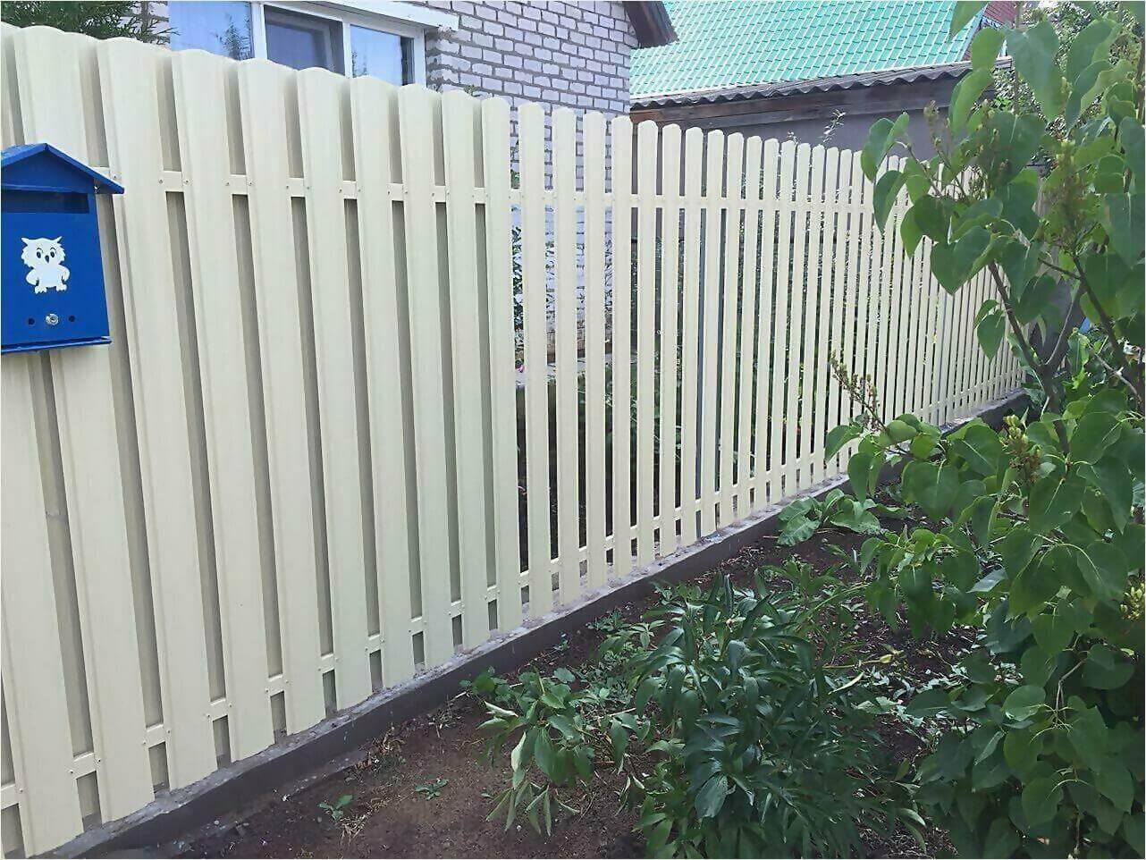 Забор из штакетника 65м фото3