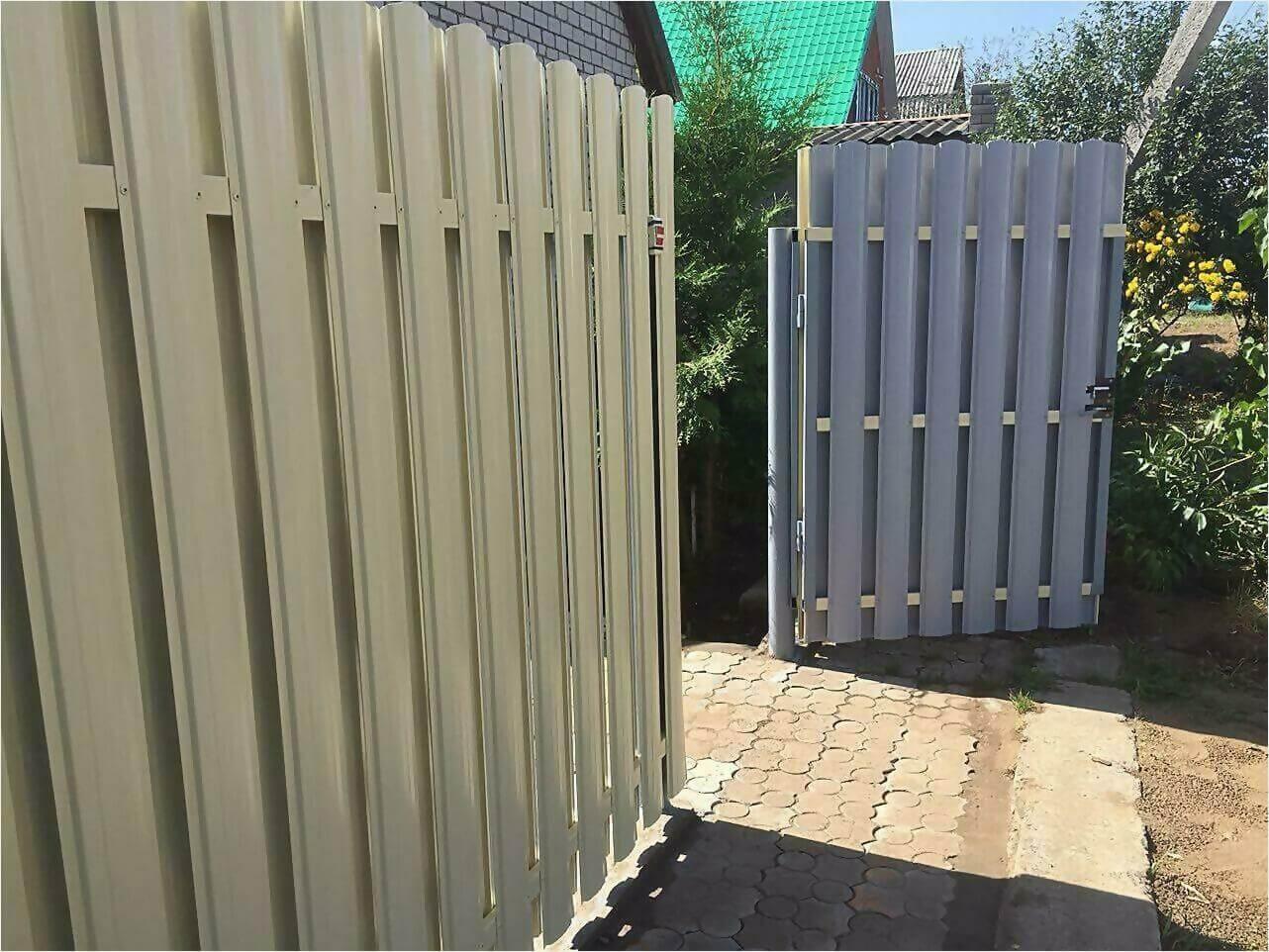 Забор из штакетника 65м фото6