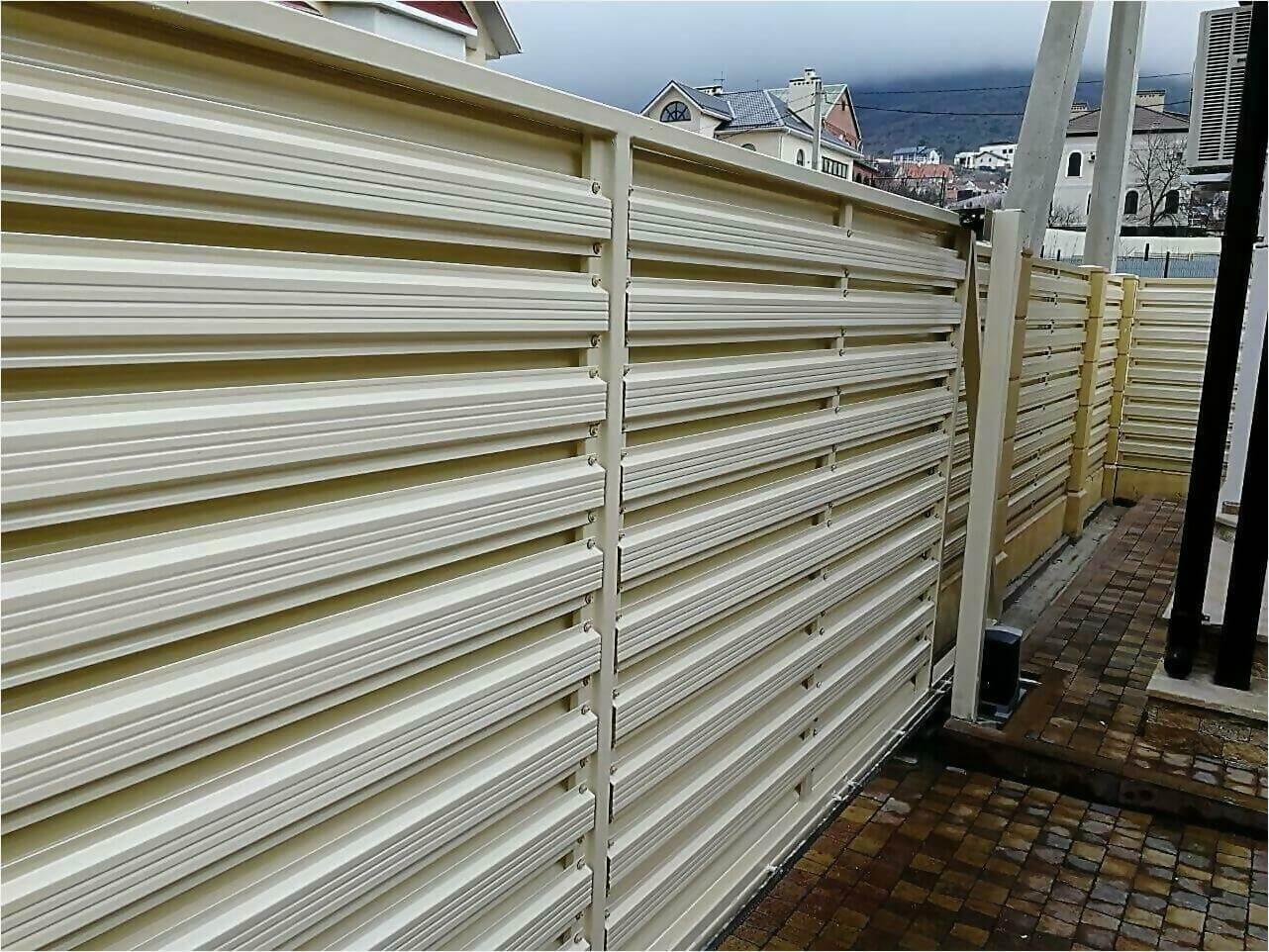 забор из штакетника 70м фото1