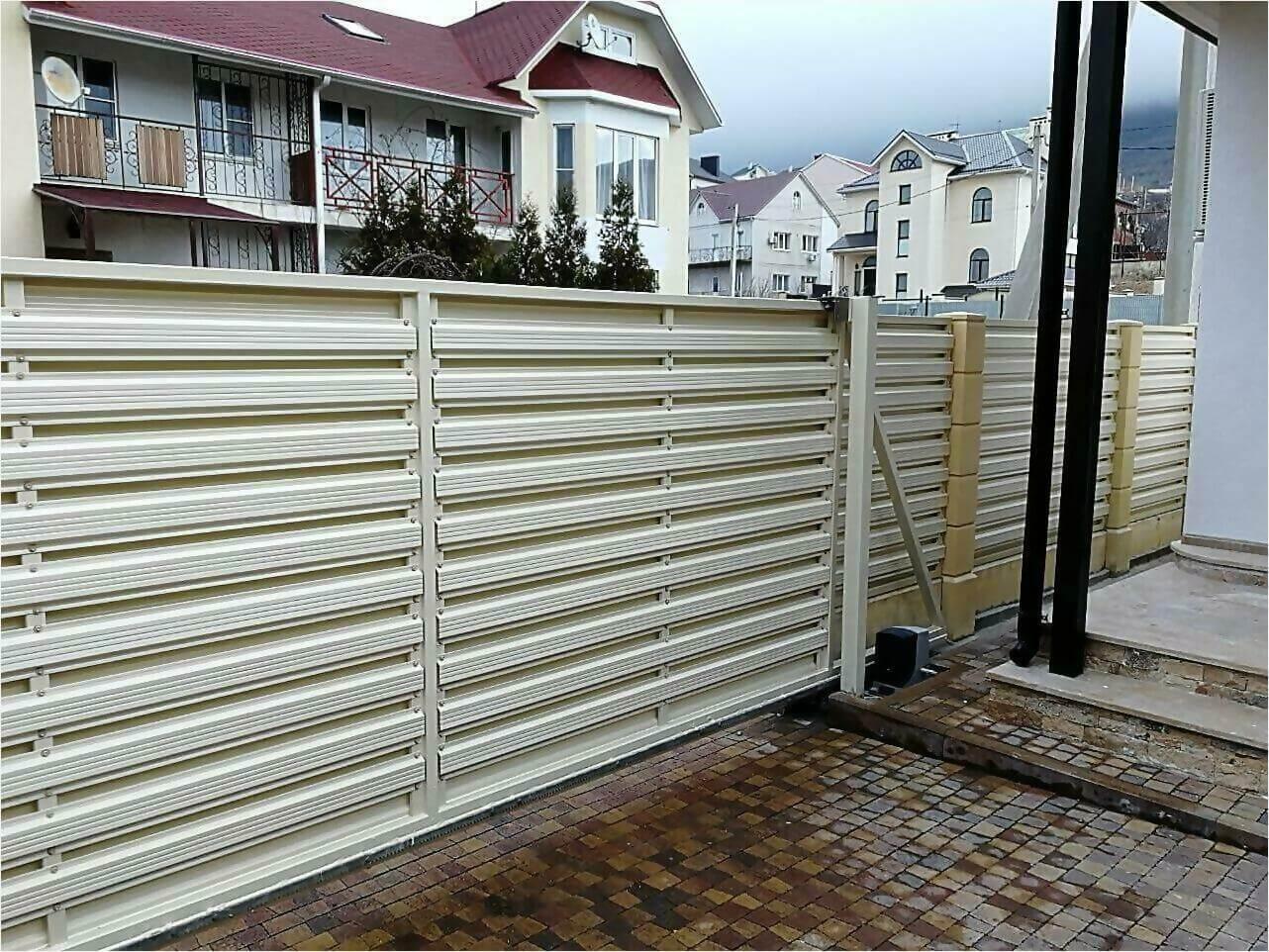 забор из штакетника 70м фото5