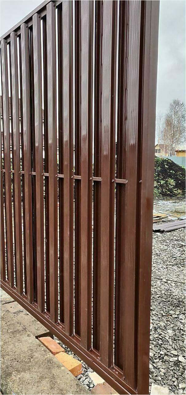 забор из штакетника 75м фото6