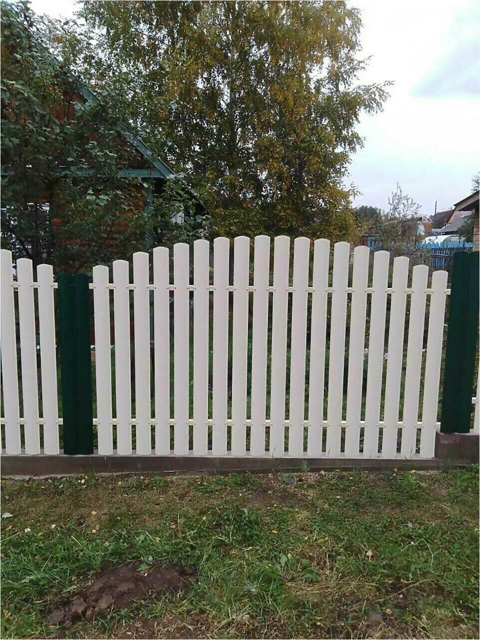 забор из штакетника 75м фото5