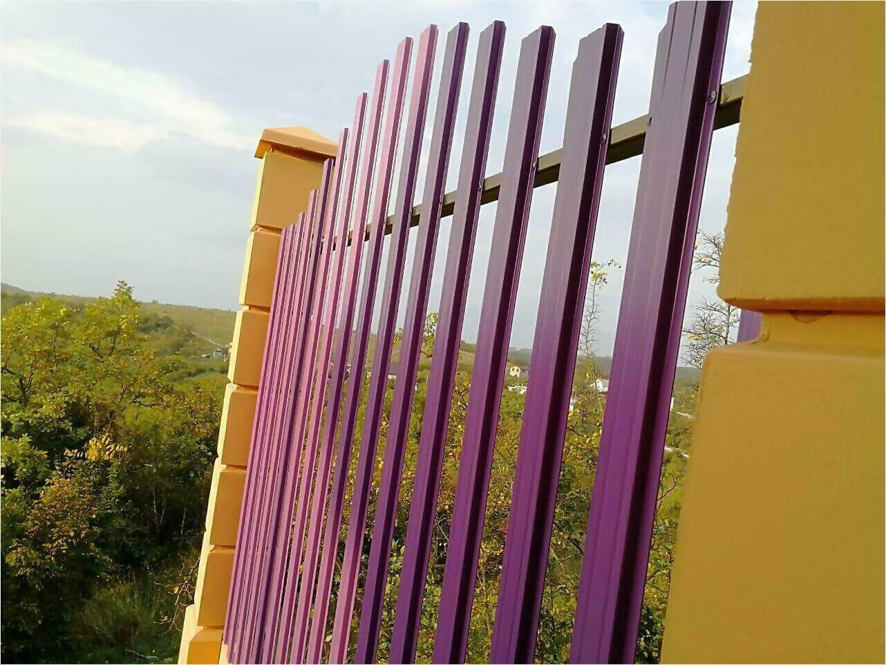 Забор из штакетника 85м фото6