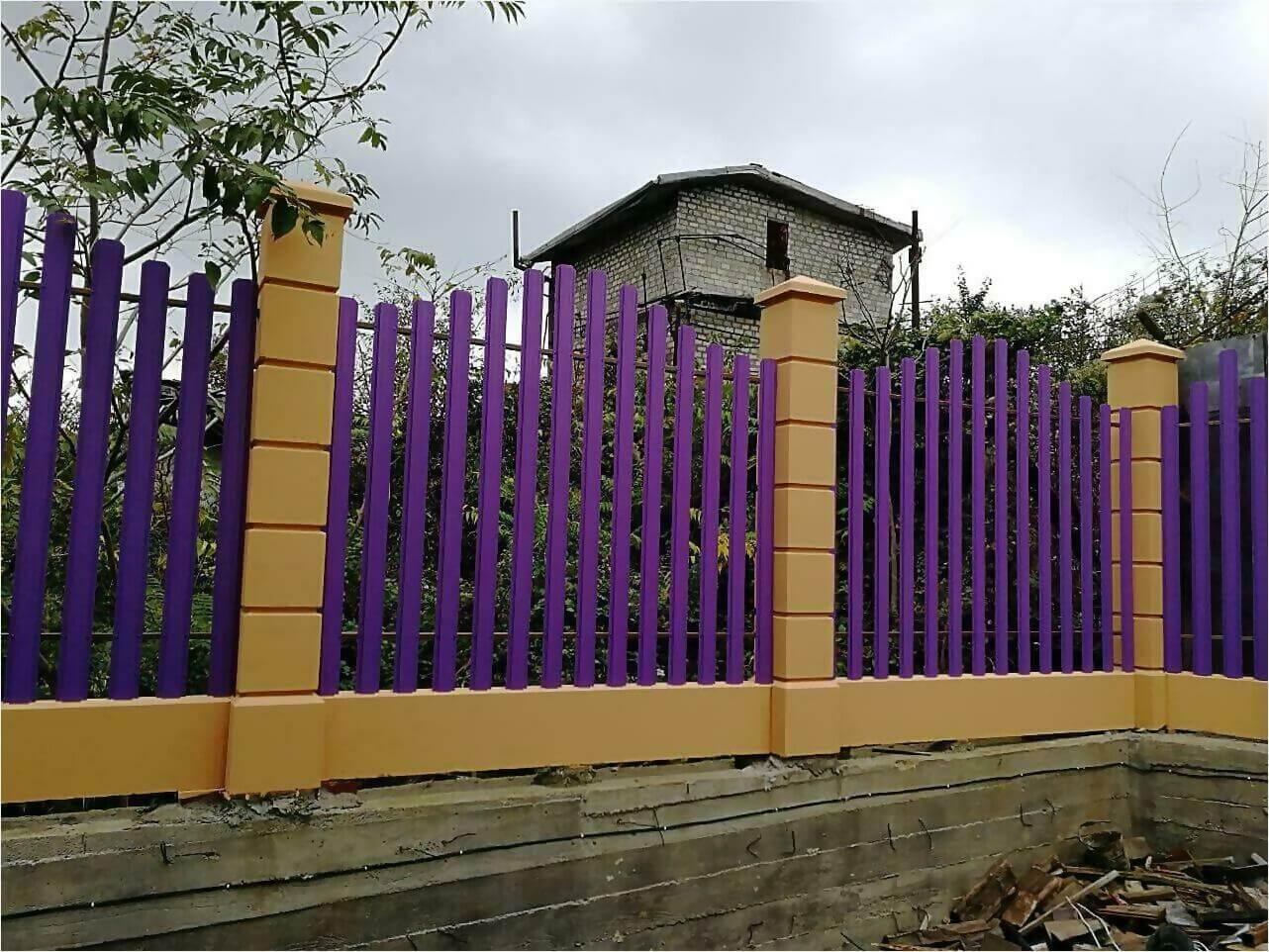 Забор из штакетника 85м фото1