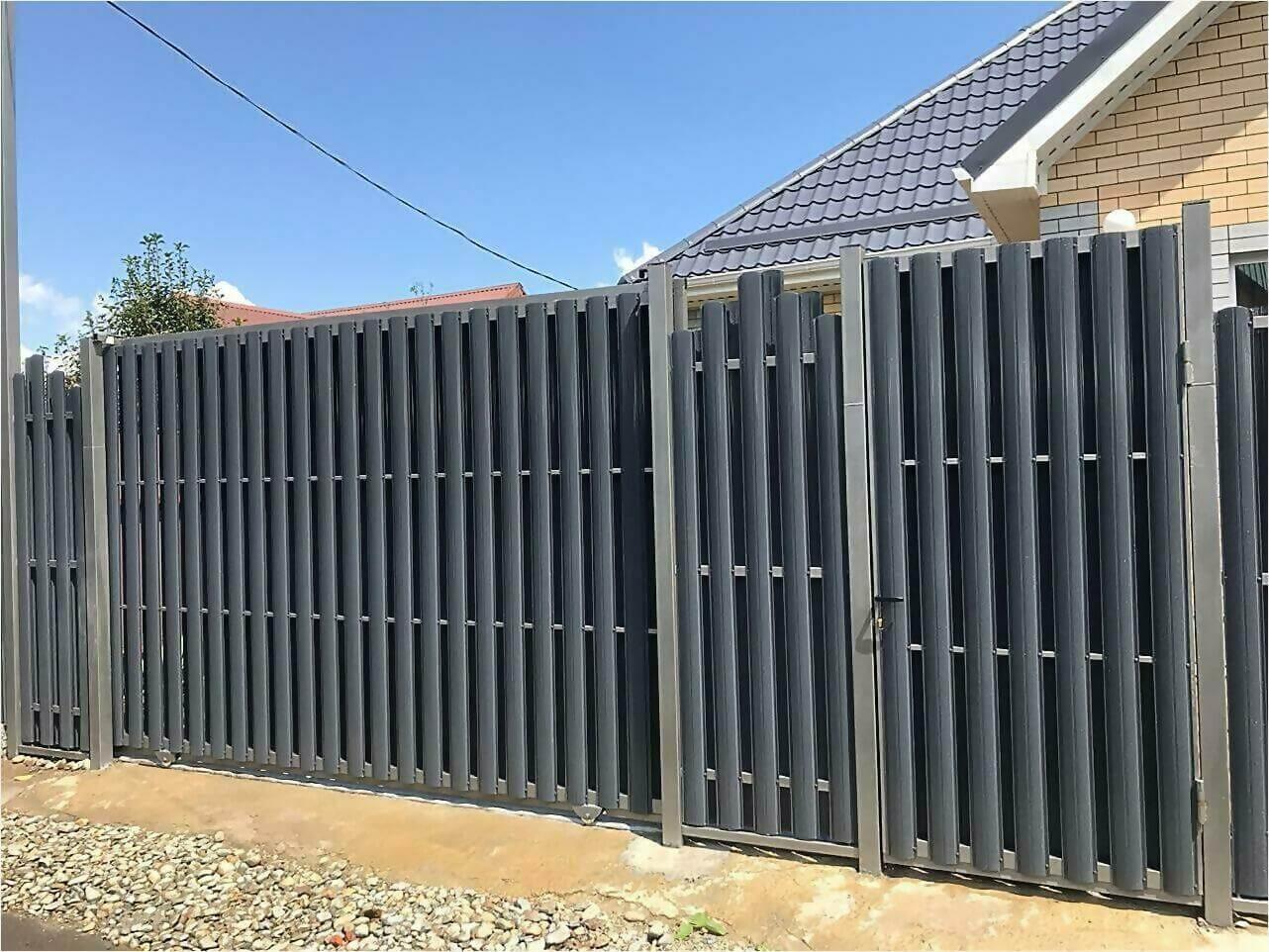 забор из штакетника 85м фото2