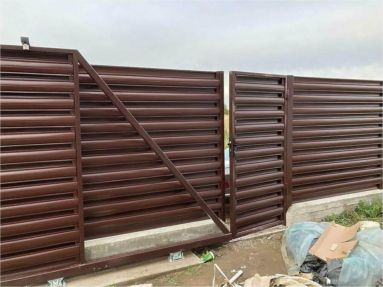 Забор из штакетника 85м фото5