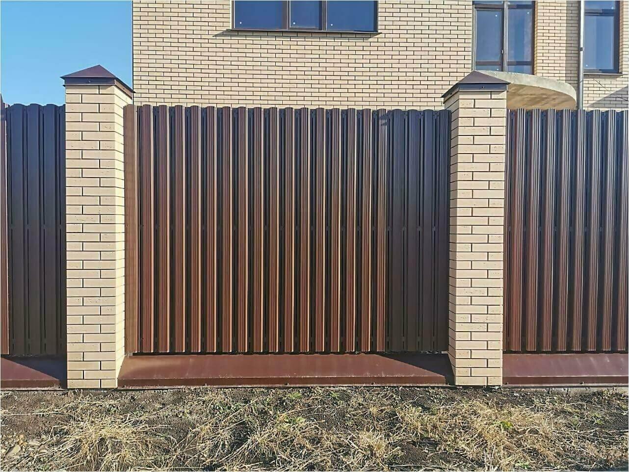 Забор из штакетника 90м фото5