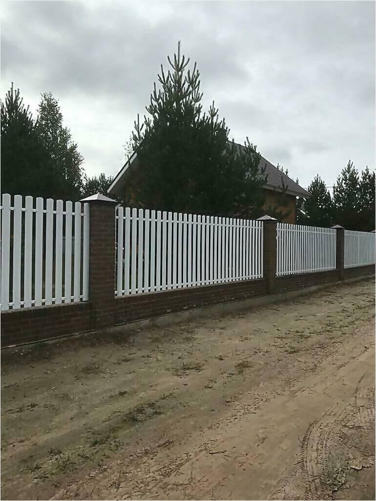 забор из штакетника 95м фото3