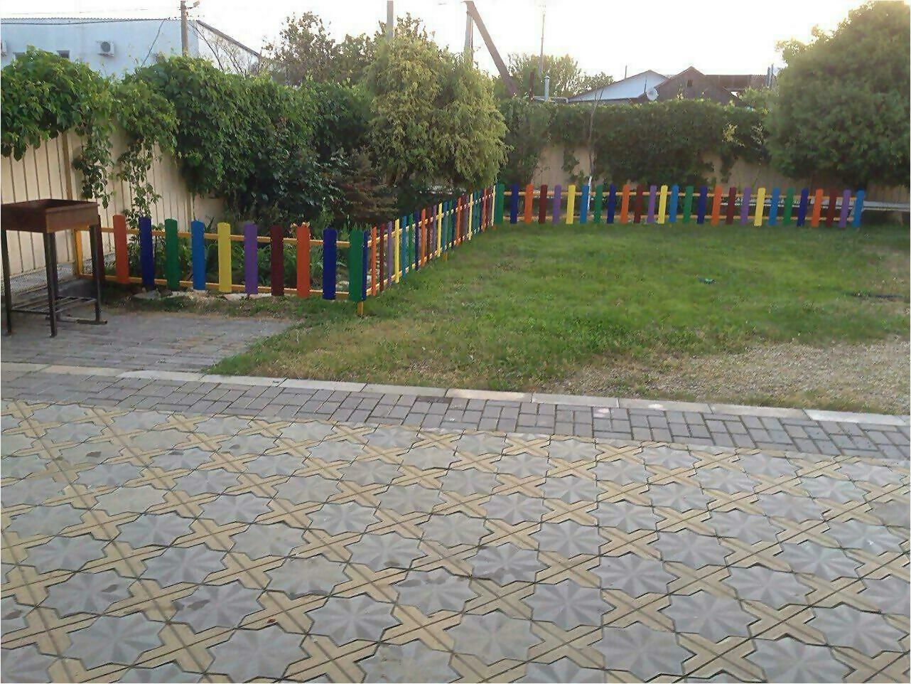 забор из штакетника 9м фото2