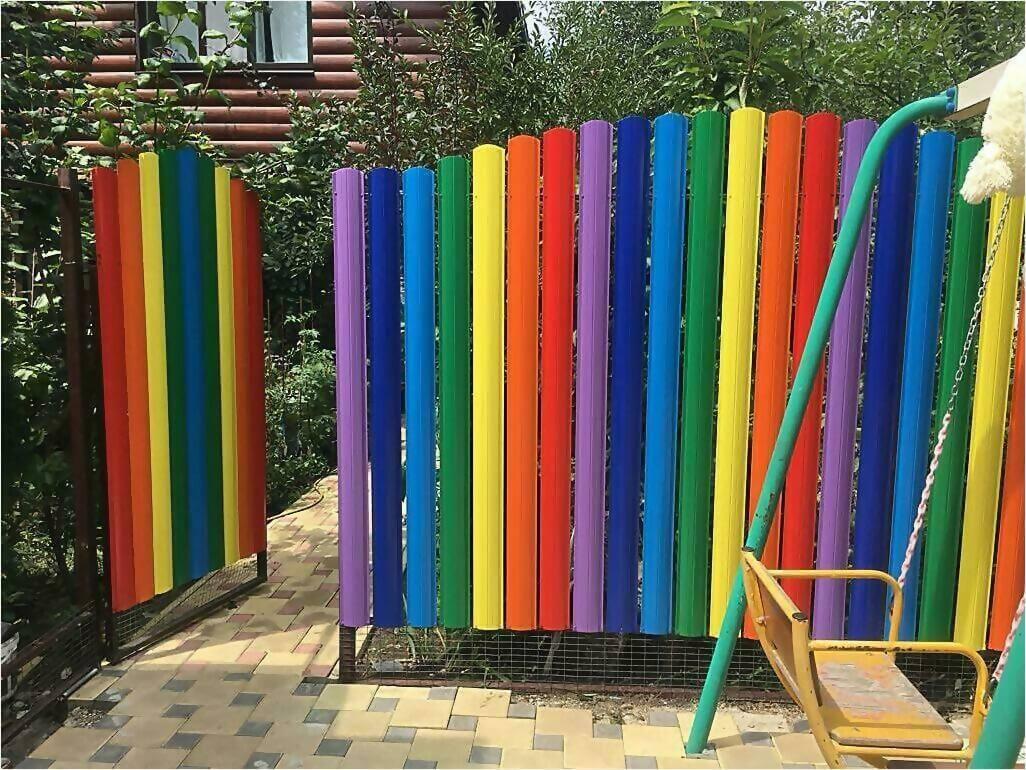 забор из штакетника 25м фото4