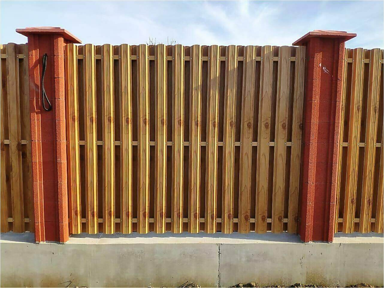 Забор из штакетника 115м фото6
