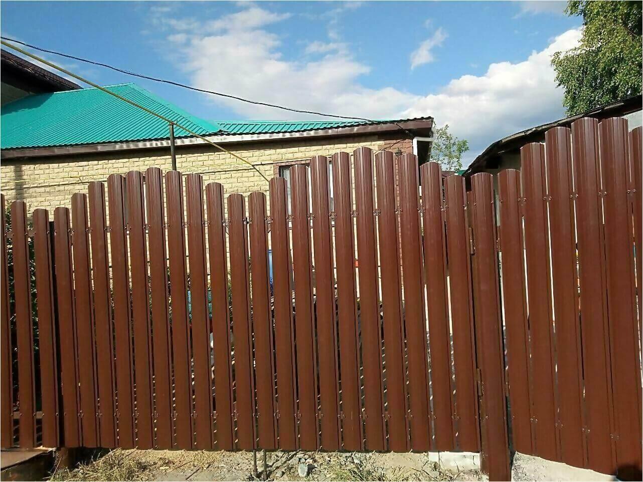забор-ранчо из штакетника 70м фото3