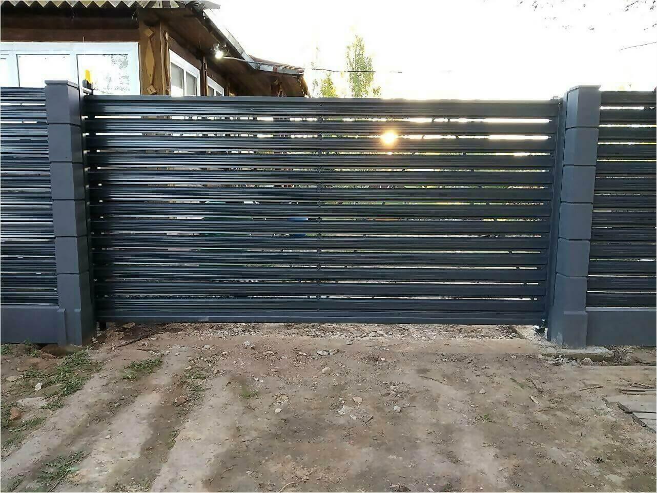 забор-ранчо из штакетника 75м фото1