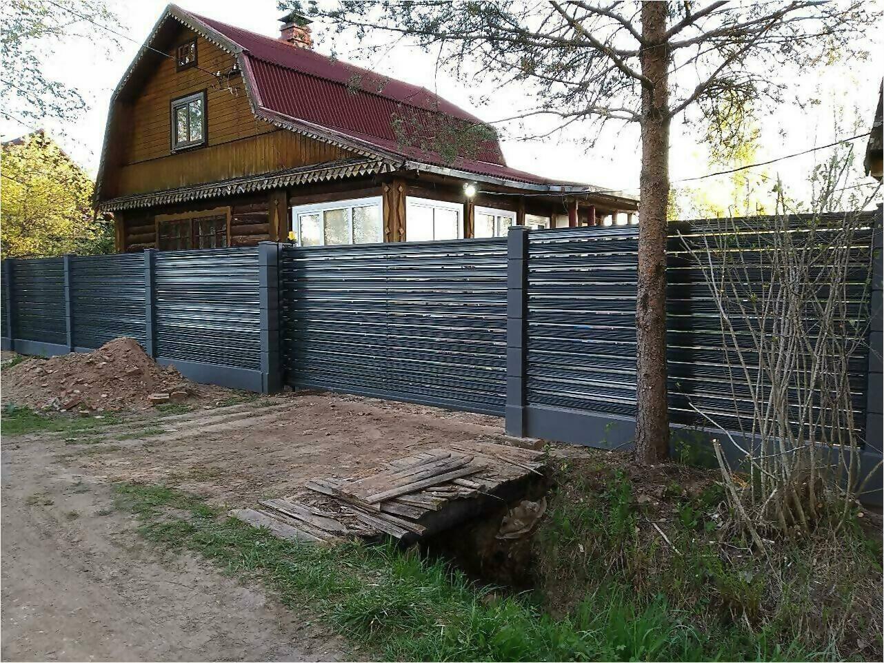 забор-ранчо из штакетника 75м фото4