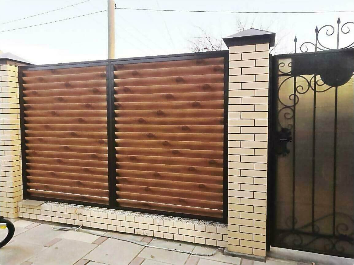 Забор жалюзи 50м светлое дерево фото8