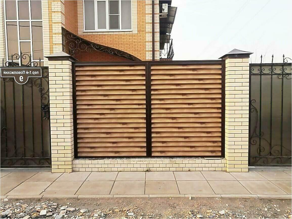 Забор жалюзи 50м светлое дерево фото1
