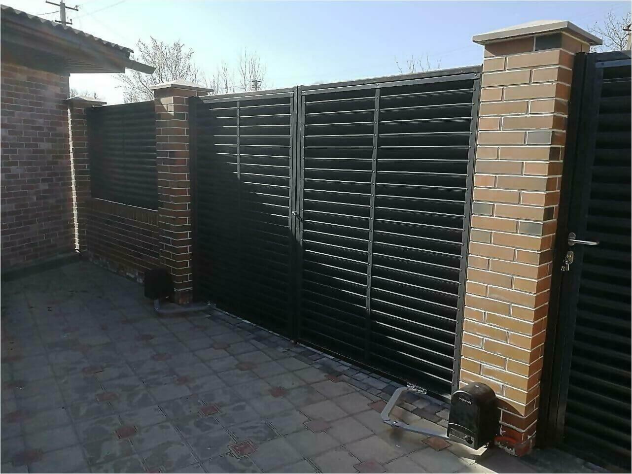 Забор-жалюзи 65м RAL7024 фото14
