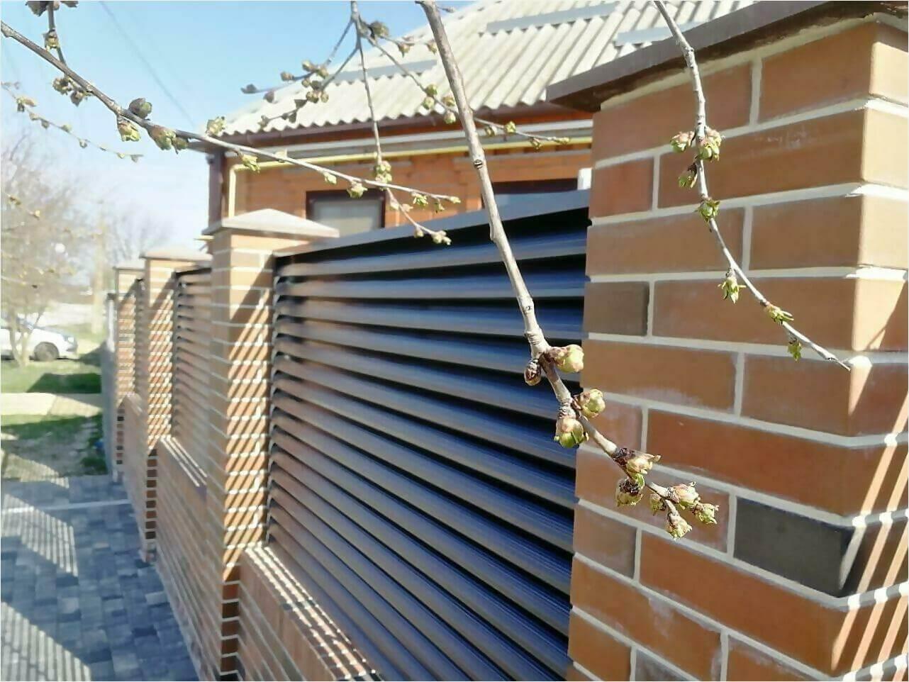 Забор-жалюзи 65м RAL7024 фото1