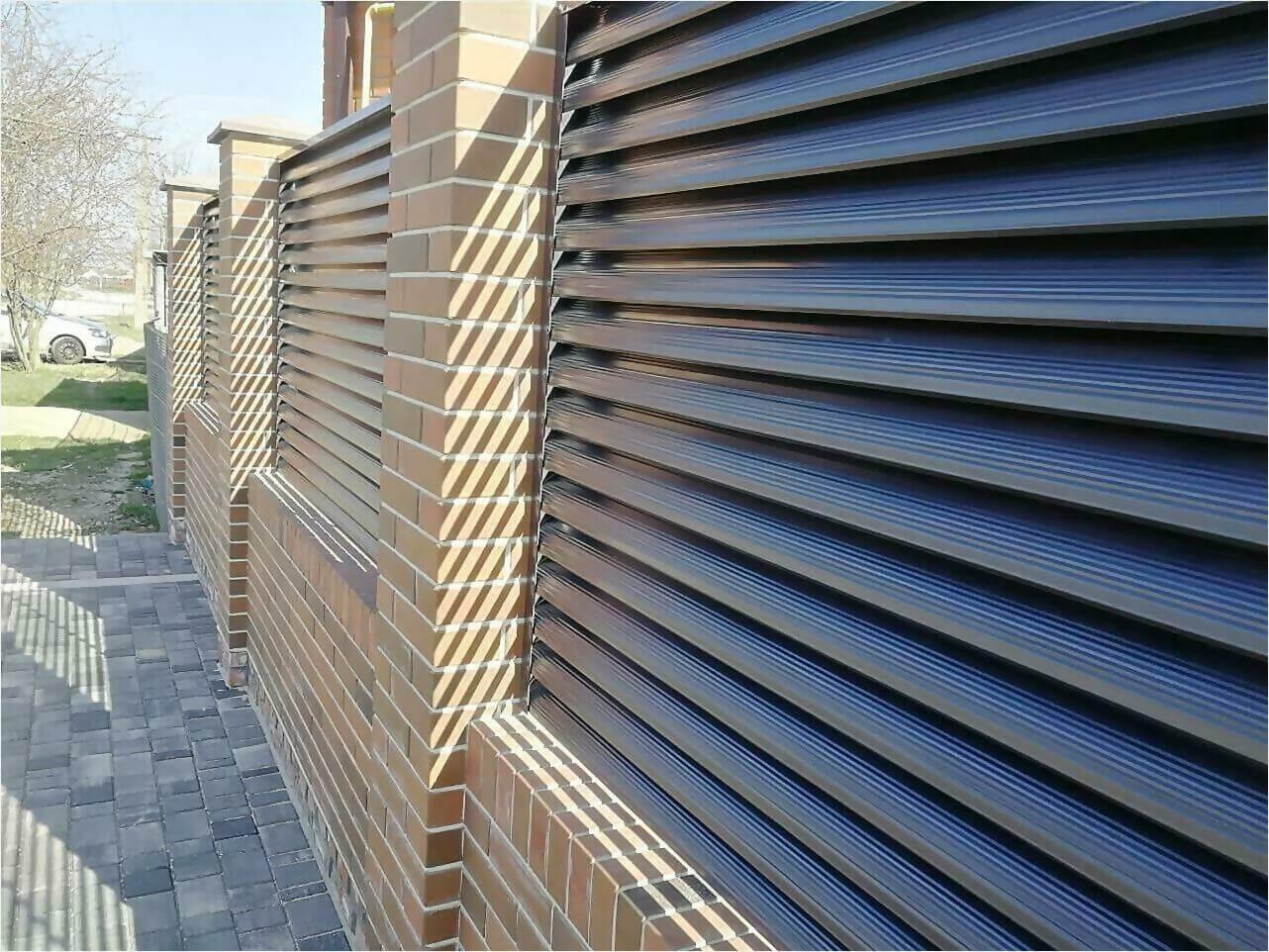 Забор-жалюзи 65м RAL7024 фото19