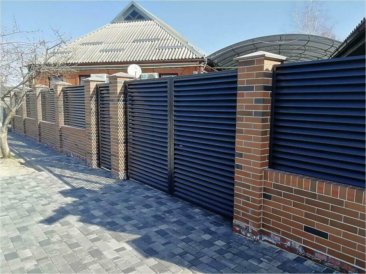 Забор-жалюзи 65м RAL7024 фото17