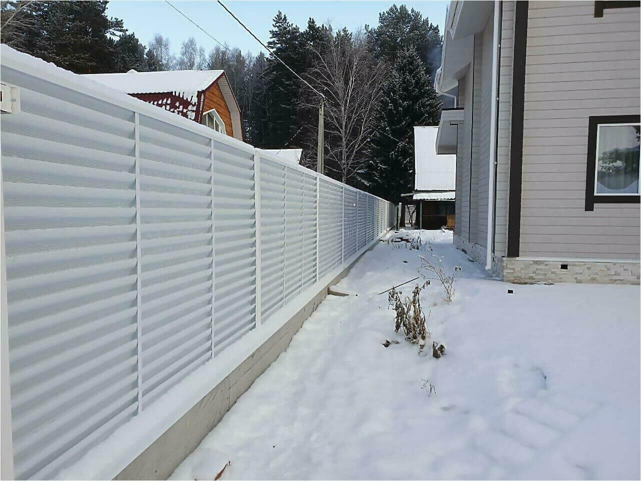 Забор жалюзи 150м RAL9003 фото4