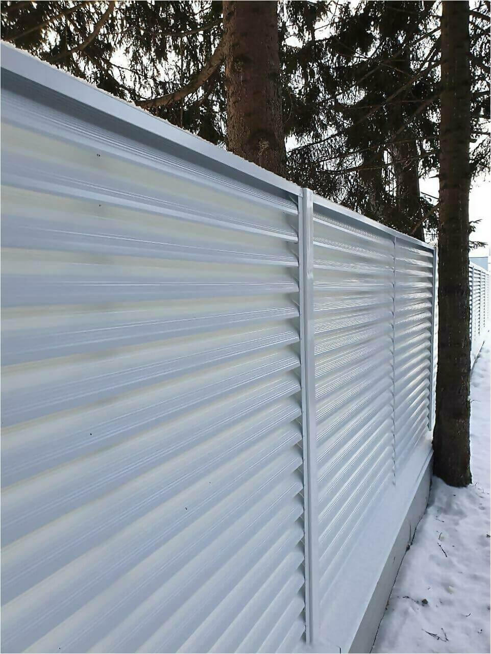 Забор жалюзи 150м RAL9003 фото5