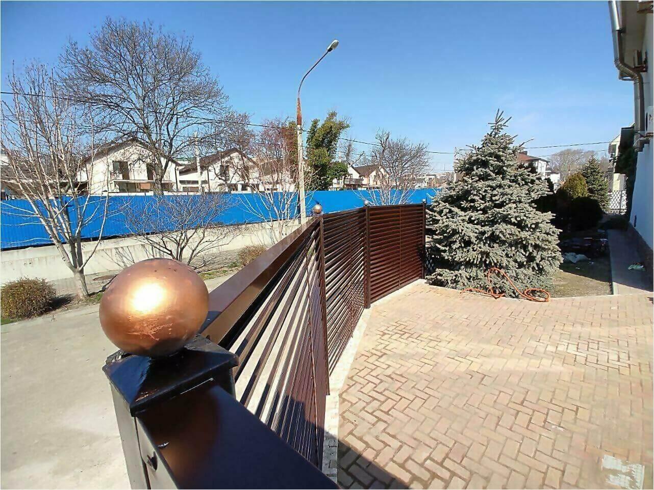 Забор-жалюзи 120м Шоколад фото10