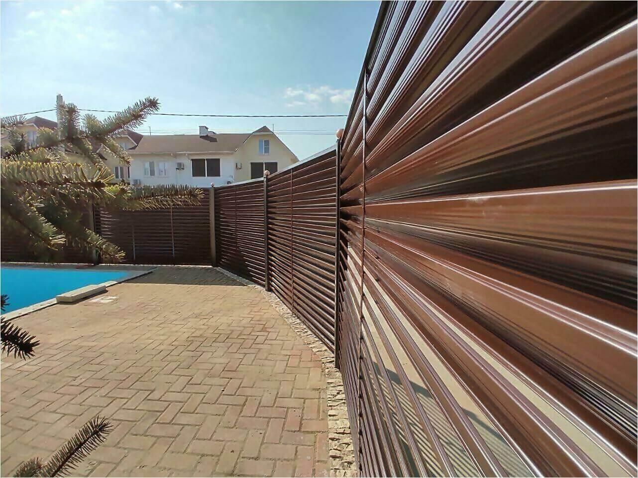 Забор-жалюзи 120м Шоколад фото5