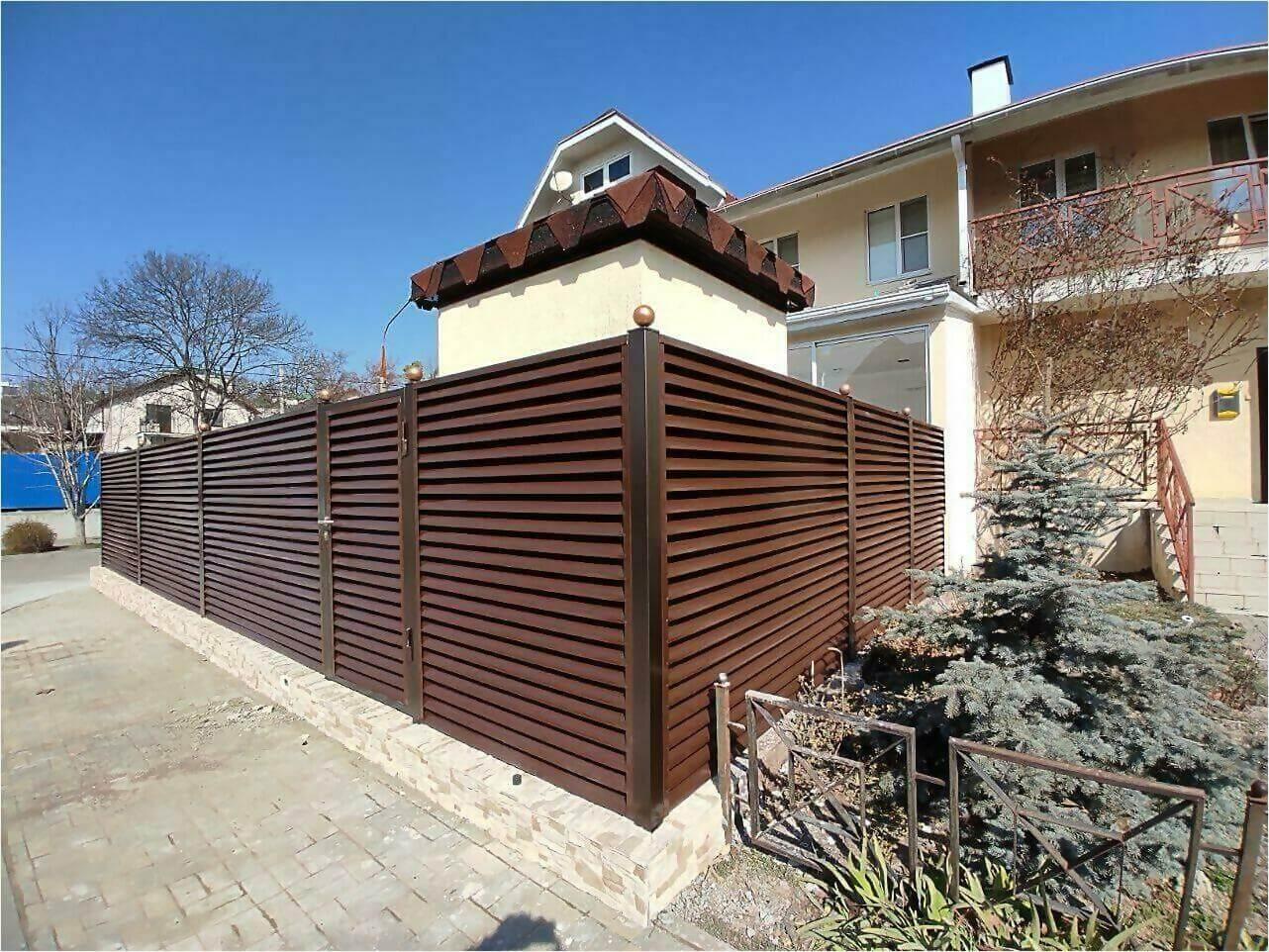Забор-жалюзи 120м Шоколад фото4