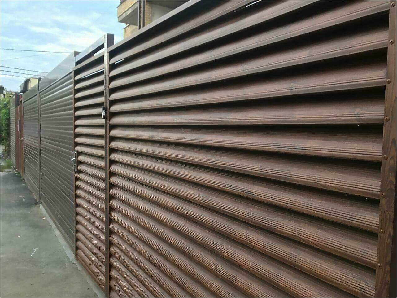 забор-жалюзи каштан фото1