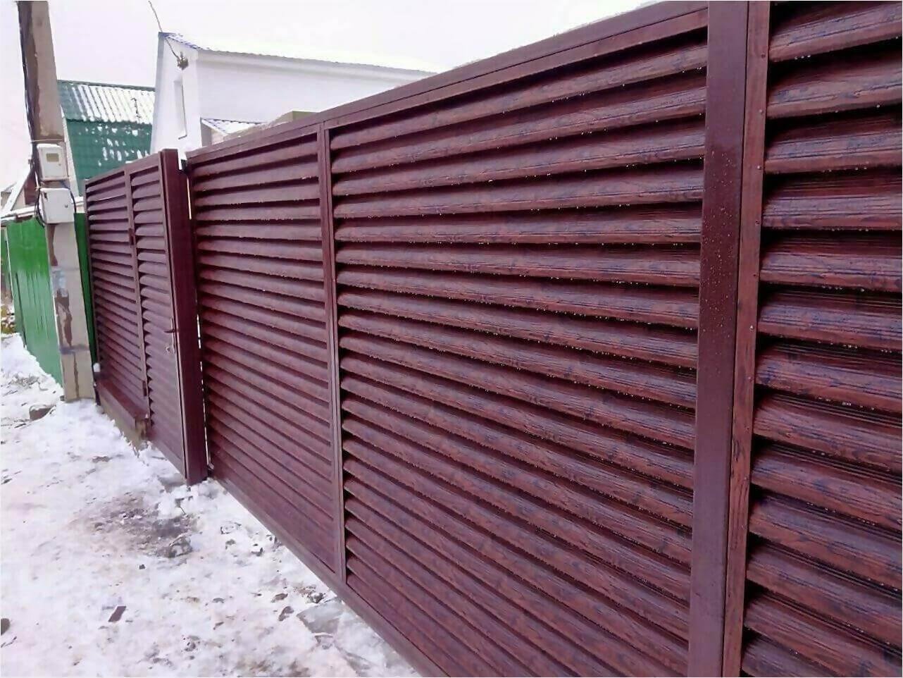 забор-жалюзи Каштан Красный фото1